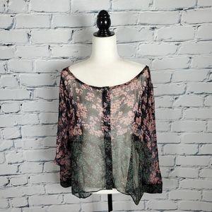 Elizabeth & James Floral Silk Blouse